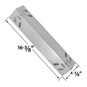 Replacement Steel Heat Plate for Kenmore 119.1614421, 119.162300, 119.162310, 119.16301, 119.16301800, 119.16302, 119.16302800, 119.16311, 119.16311800, 119.16312, 119.16312800, 119.16433010 Gas Grill Models