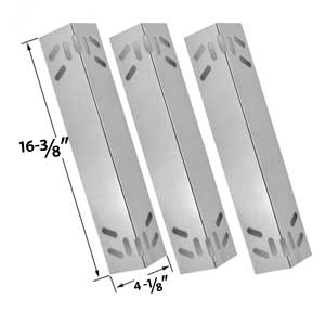3 Pack Steel Heat Shield Replacement for Kenmore 119.1614421, 119.162300, 119.162310, 119.16301, 119.16301800, 119.16302, 119.16302800, 119.16311, 119.16311800, 119.16312, 119.16312800, 119.16433010, 119.16434010, 119.16658010, 119.16658011, 119.16670010,