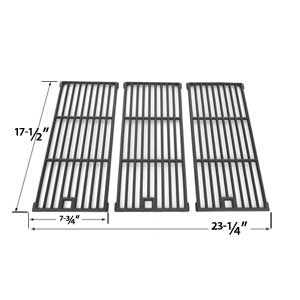 Cast Iron Cooking Grid Replacement for Amana AM26LP, AM27LP, AM30LP-P, AM33, AM33LP-P, Surefire SF278LP and Kenmore 148.16656010 Gas Grill Models, Set of 3