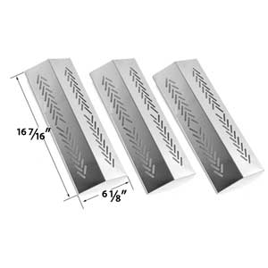 3 Pack Stainless Steel Replacement Heat Shield for Broil-mate 726454, 726464, 736454, 736464, Grillpro & Sterling 526454, 526464, 536454, 536464 Gas Grill MOdels