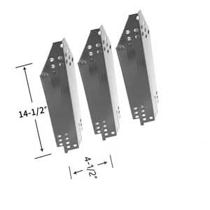 Kenmore 415.16128010, 41516128010, 415.16128010, 415.1612801, 4151612801 Stainless Heat Shields (3-Pack)