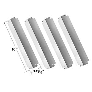 4 Pack Replacement Stainless Steel Heat Plate For Kenmore, Thermos 461262006 and Charbroil Lowes 463248208 Gas Models
