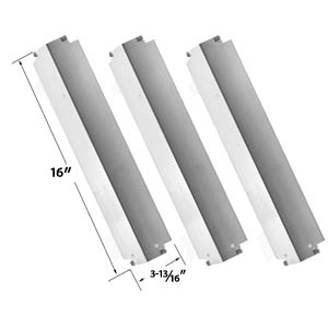 3 Pack Replacement Stainless Steel Heat Cover For Kenmore, Coleman 85-3026-0, 85-3028-6, G52203, G52204 and Charbroil Lowes 463248208 Gas Grills