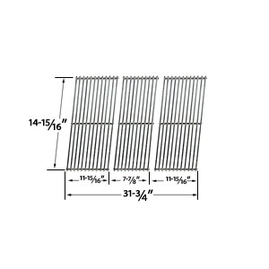 Stainless Steel Cooking Grid Replacement For Kenmore 463366506, Thermos 461410708, 461410907, 461411107, 492, PS492 and Charbroil 46344532, 4634522 Gas Grill Models, Set of 3