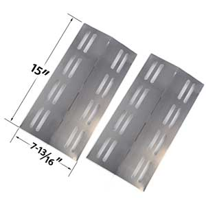 2 Pack Replacement Stainless Steel Heat Plate for Members Mark Models REGAL04CLP, Barbeques Galore 3BENDLP, Charbroil 463742111, Grand Hall REGAL04CLP, Patio Chef SS42, SS54, SS72LP, SS72NG, Sams Members Mark Regal 04CLP and Grill Chef PR364 Gas Grill Mod
