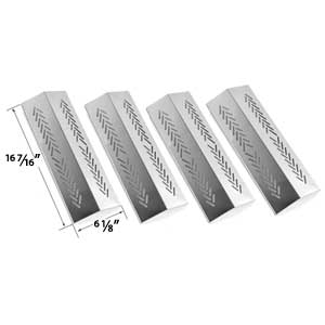 4 Pack Stainless Steel Replacement Flavorizer Bar for Grillpro 226454, 226464, 236454, 236464, 2009, Sterling 526454, 526464, 536454, 536464 & Broil-mate 726454, 726464, 736454, 736464, Gas Grill Models