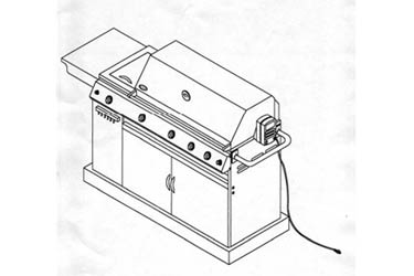 Virco 720-0021-LP Gas Grill Model