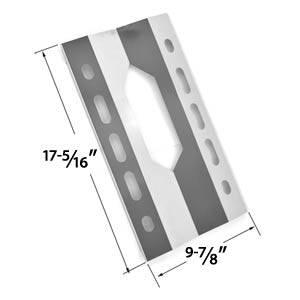 Replacement Stainless Steel Heat Sheild for Harris Teeter 210001, 21001 and Members Mark 720-0586A, Gas Grill Models