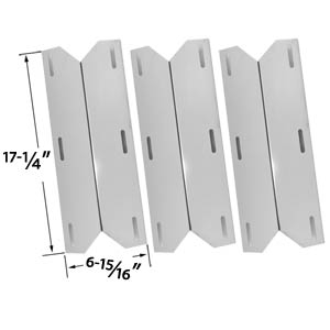 3 Pack Stainless Steel Heat Cover Fit Models Charmglow, Costco Kirkland 720-0432, Nexgrill & Sterling Forge