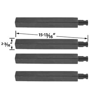 4 Pack Replacement Cast Iron Grill Burner for Charbroil 61252705, 463241004, 463241904, 463247404, 463247504, 463251705, 463252205, 463254205, Virco 720-0032 and Thermos 461252705 Gas Models