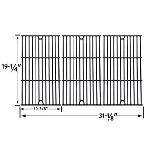 Gloss Cast Iron Cooking Grid Replacement For Charmglow 720-0234, 720-0289, 720-0396, 720-0536, 720-0578, 810-850-F, 810-8500-S and Jenn-Air 720-0337, 720-0512 Gas Grill Models, Set of 3