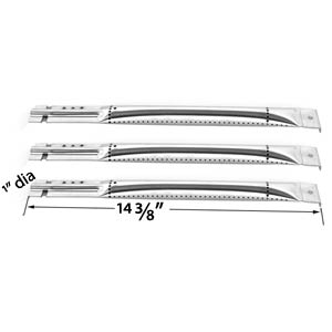 3 Pack Universal Stainless Steel Gas Grill Burner for Charbroil, Kenmore, Master Chef, Nexgrill & Members Mark Gas Grills