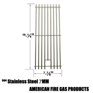 Stainless Steel Cooking Grates For Nexgrill 720-0584A, 720-0008-T, 720-033 and Perfect Flame 720-0335, 730-0335 Gas Grill Models