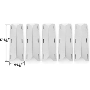 5 Pack Replacement Stainless Steel Heat Shield for Nexgrill, Glen Canyon, Jenn-air 720-0141-LP, 720-0142, 720-0142-LP, 720-0150, 720-0150-LP, 720-0151-NG, 720-0164-LP, 720-0165, 720-101, 730-0163, 720-0171, 720-0336, 720-0337, 720-0511, 720-0512, 730-0164