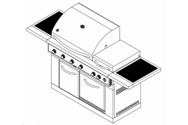 Sams Gas Grill Model Members Mark 720-0586A