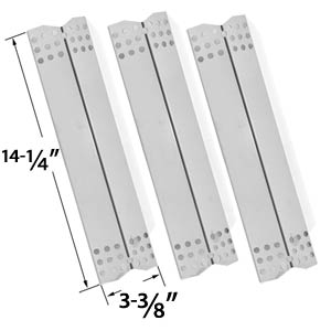 3 Pack Replacement Stainless Steel Heat Shield for Grill Master, Nexgrill 720-0697, 720-0737, 720-0825, Uberhaus 780-0003, Tera Gear 780-0390 & Duro 780-0390 Gas Grill Models