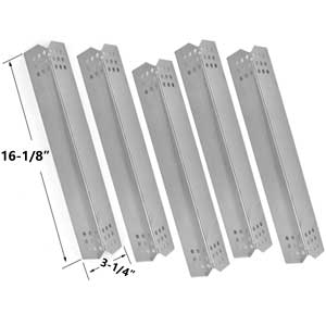 5 Pack Replacement Stainless Steel Heat Radiant for NexGrill 720-0336B, 720-0336C, 720-0336D, 720-0709, 720-0709B, 720-0709C, 720-0720, 720-0727 & Kitchen Aid Gas Grill ModelS