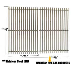 9mm Heavy Duty Weber 7528 Replacement Stainless Steel Cooking Grates For Weber Genesis E and S series Gas Grill Models, Set of 2