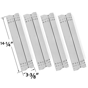 4 Pack Stainless Steel Heat Shield Replacement for Grill Master 720-0737, 720-0697, Nexgrill 720-0697, Uberhaus 780-0003, Tera Gear 780-0390 & Duro 780-0390 Gas Grill Models