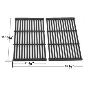 Cast Iron Replacement Cooking Grid For Grill Chef SS525-B, SS525-BNG, Members Mark REGAL04CLP and BBQ Pro BQ51011 Gas Grill Models, Set of 2
