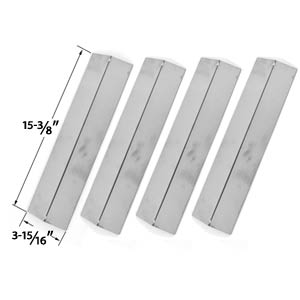 4 Pack Stainless Steel Vaporizor Bar for Charmglow Models 810-8410-F, 810-8410-S, Brikmann & Grill King Gas Grill Models