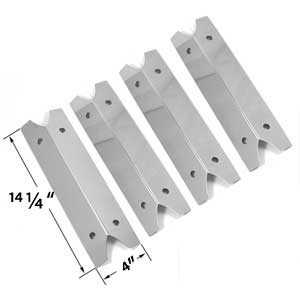 4 Pack Stainless Steel Heat Shield for Smoke Canyon GR2002401-SC-00, Smoke Hollow 7000CGS, 47180T, 47183T, Charmglow 810-9210-F, 810-9210F and Outdoor Gourmet GR2002401-SC-00, DLX2012, DLX2013, SRGG21101 Gas Grill Models