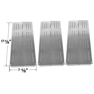 3 Pack Stainless Steel Heat Shield for Charbroil 4632210, 4632215, 463221503, 4632220, 4632235, 4632236, 4632240, 4632241, 463231503, 463231603, 463233503, 463233603, 463234603 and Grand Cafe GC-1000 Grill Models