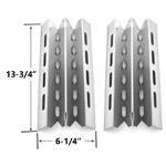 2 Pack Stainless Steel Heat Plate Replacement for select Broil King, Broil-Mate, Huntington and Sterling Gas Grill Models