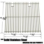 Stainless Steel Cooking Grid For Brinkmann 810-3820-S, 810-3821-S, Dyna-Glo DGP350NP and Master Forge MFA350CNP Gas Grill Models, Set of 2