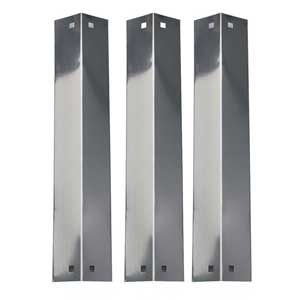 3 Pack Replacement Stainless Steel Heat Shield, Vaporizor Bar, and Flavorizer Bar for King Griller 3008 5252, Chargriller Gas Grill Models 3001, 4000, 5050, 5252 Gas Grill Model.