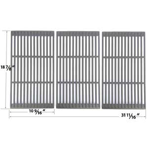 Cast Iron Grates For Jenn Air 720-0709, 720-0709B, 720-0720, 720-0727, 730-0709, 720-0709C Gas Grill Models, Set of 3