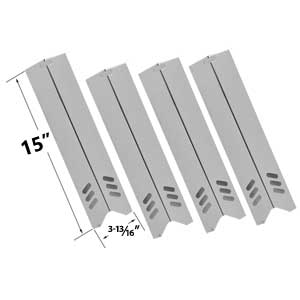 4 Pack Stainless Heat Shield For Uniflame GBC1059WB, GBC1059WB-C BHG BH13-101-001-01, GBC1362W, Backward BY12-084-029-98, BY13-101-001-12, BY13-101-001-13, GBC1255W Gas Grill Models