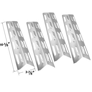 4 Pack Replacement Stainless Steel Heat Plate/shield for Backyard Grill BY12-084-029-97, BY12-084-029-98, Master Forge B10LG25, Uniflame GBC873W, GBC873W-C, GBC873WNG, GBC873WNG-C and BOND GSF2818KH, GSF2818KS Gas Grill Models
