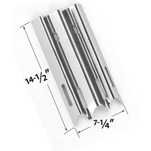 Stainless Steel Heat Shield for Vermont Castings, Jenn-Air & Great Outdoors Gas Grill Models