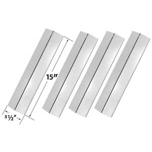 4 Pack Replacement Stainless Steel Heat Shield for Surefire SF278LP, Surefire SF308LP & Amana AM26LP, Amana AM27LP, Amana AM30LP-P, Amana AM33LP-P Gas Grill Models