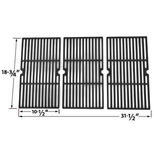Cast Iron Cooking Grid for Charbroil 463241904 and Centro 5000rt, 85-1211-0, 85-1251-4, g60104, g60105, 463241004 Gas Grill Models, Set of 3