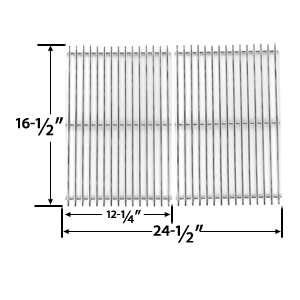 Stainless Steel Cooking Grid Replacement for Ducane 1500, 1502, 1502HLP, 1502HLPE, 1502HN, 1502HNE, 1502SHLPE, 1502SHNE, 1504, 1504S, 1504SHLPE, 1504SHNE, 5002 Gas Grill Models, Set of 2