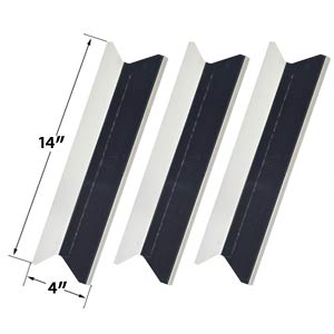 3 Pack Stainless Heat Plate for Presidents Choice SSS34146TCS & Tera Gear GSF3916 Gas Grill Models