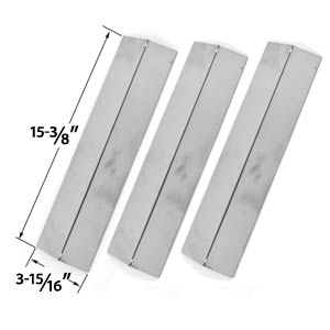 Replacement 3 Pack Stainless Steel Heat Cover for Brinkmann, Uniflame GBC091W, GBC831WB, Charmglow & Grill King Gas Grill Models