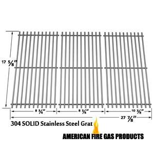 Replacement Solid Stainless Grates For Brinkmann and Grill King Gas Models